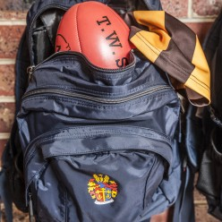School Bag with Football