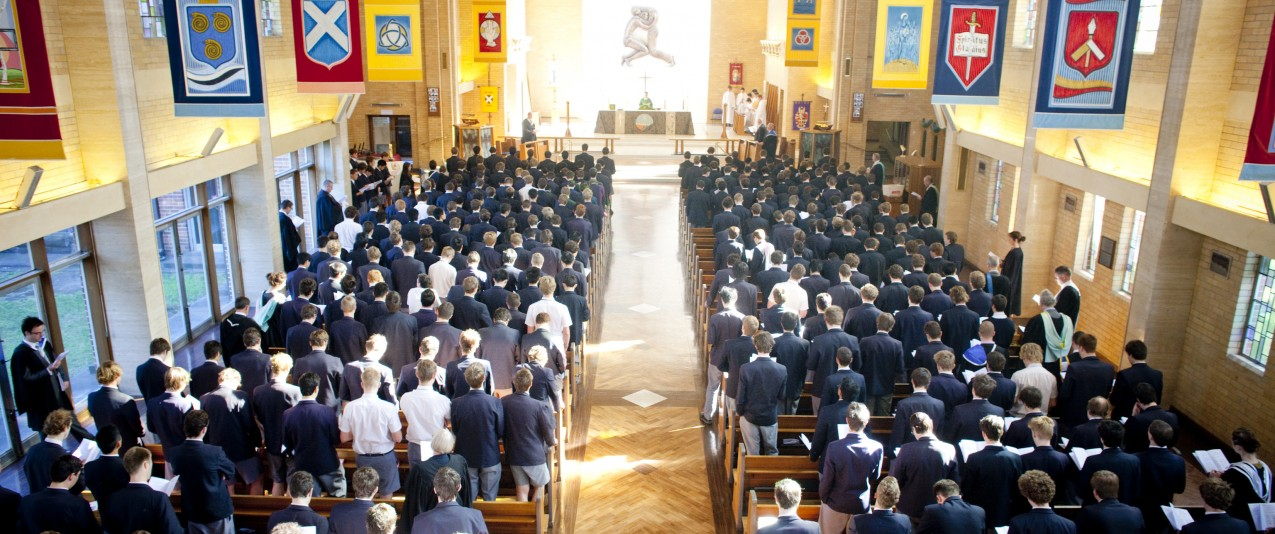 Top Anglican Private School, Brighton grammar Senior School Boys in Chapel