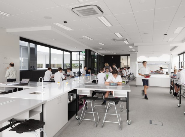 Brighton Grammar Boys in state of the art Middle School Science Classroom