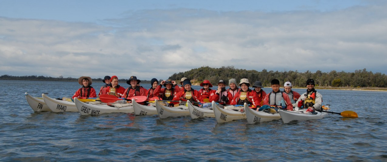 Brighton grammar Year 10 Sea Kayaking Gippsland lakes 2015